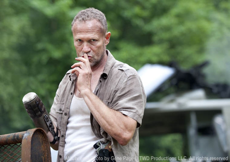 Merle Dixon (Michael Rooker) in Season 3 of The Walking Dead