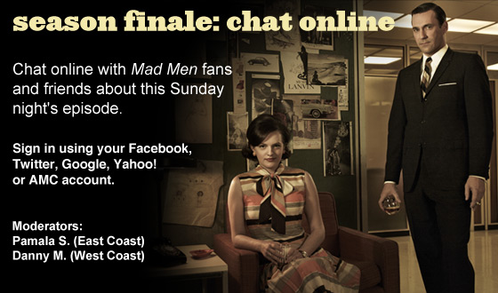 Chat Online About the <em>Mad Men</em> Season 5 Finale on Sunday Night