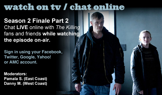 Chat Online About Part 2 of <em>The Killing</em> Season 2 Finale This Sunday Night
