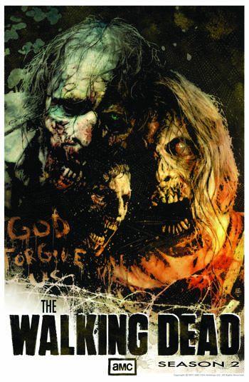 Season 2 Poster by Tim Bradstreet of The Walking Dead