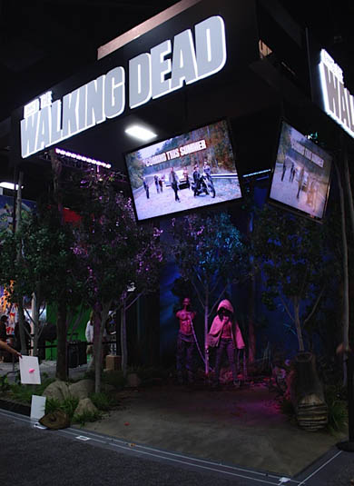 The Walking Dead Booth at Comic-Con 2012