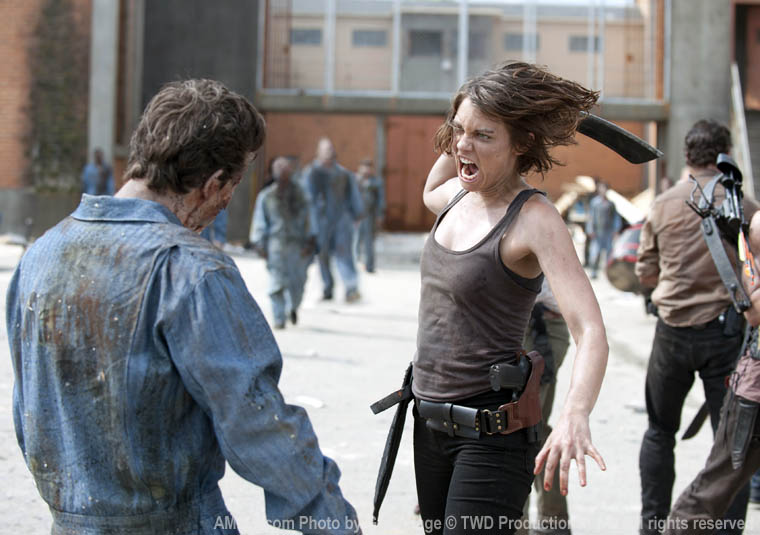 Maggie Greene (Lauren Cohan) in Season 3 of The Walking Dead