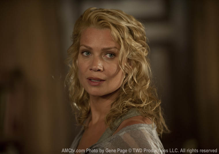 Andrea (Laurie Holden) in Season 3 of The Walking Dead