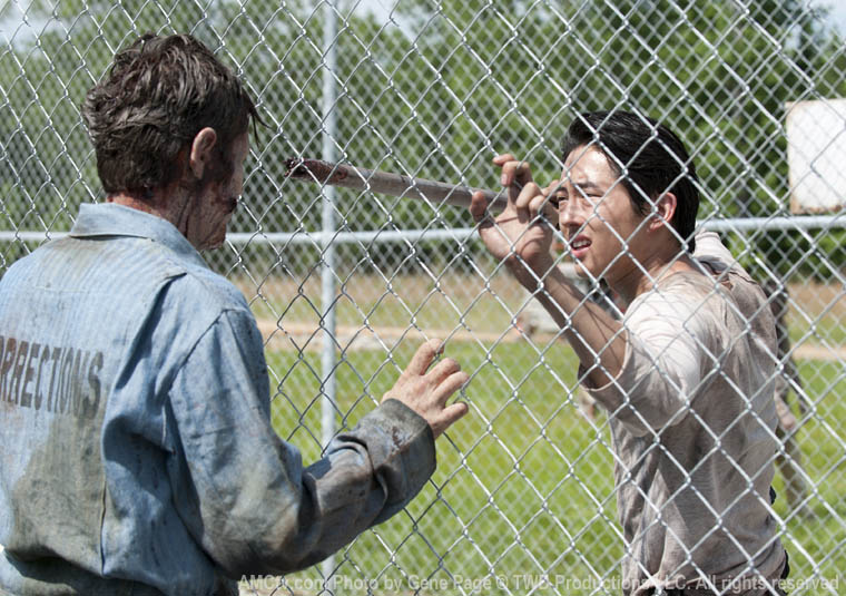 Glenn (Steven Yeun) in Season 3 of The Walking Dead