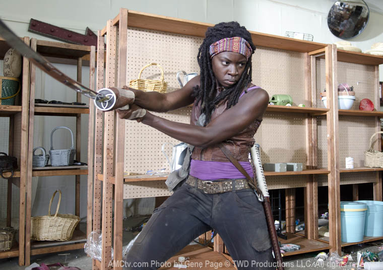 Michonne (Danai Gurira) in Season 3 of The Walking Dead