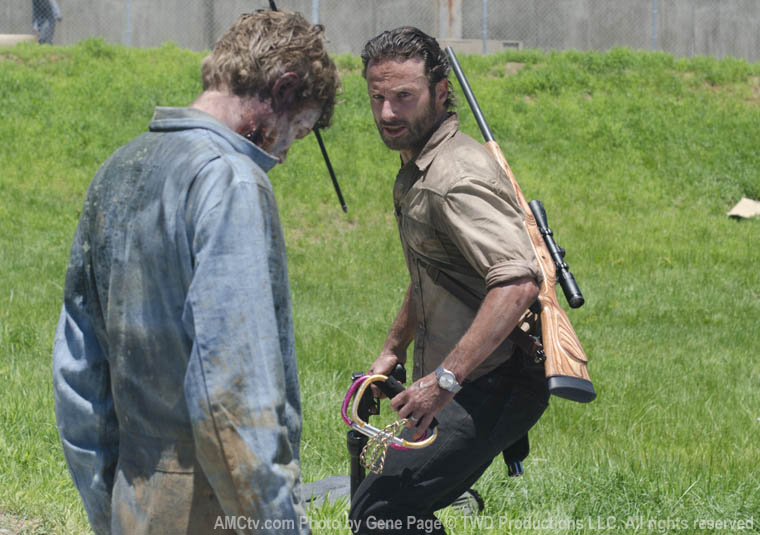 Rick Grimes (Andrew Lincoln) in Season 3 of The Walking Dead