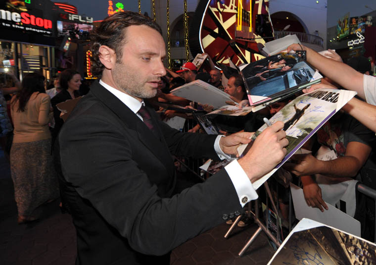 Andrew Lincoln (Rick Grimes) at The Walking Dead Season 3 Premiere Party