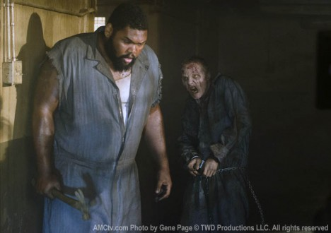 Big Tiny (Theodus Crane) in Episode 2 of The Walking Dead