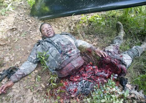 Sean (Troy Faruk) in Episode 3 of The Walking Dead
