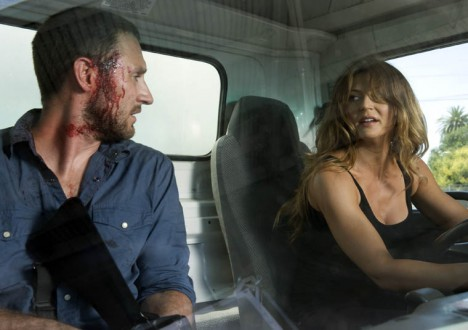 Chase (Josh Stewart) and Kelly (Cerina Vincent) of The Walking Dead Webisode Cold Storage