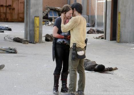 Maggie Greene (Lauren Cohan) and Glenn Rhee (Steven Yeun) in Episode 4 of The Walking Dead