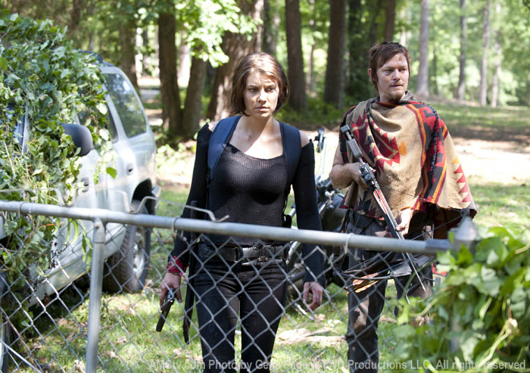 Maggie Greene (Lauren Cohan) and Daryl Dixon (Norman Reedus) in Episode 5 of The Walking Dead