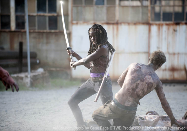 Michonne (Danai Gurira) in Episode 5 of The Walking Dead