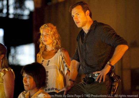 Andrea (Laurie Holden) and the Governor (David Morrissey) in Episode 5 of The Walking Dead