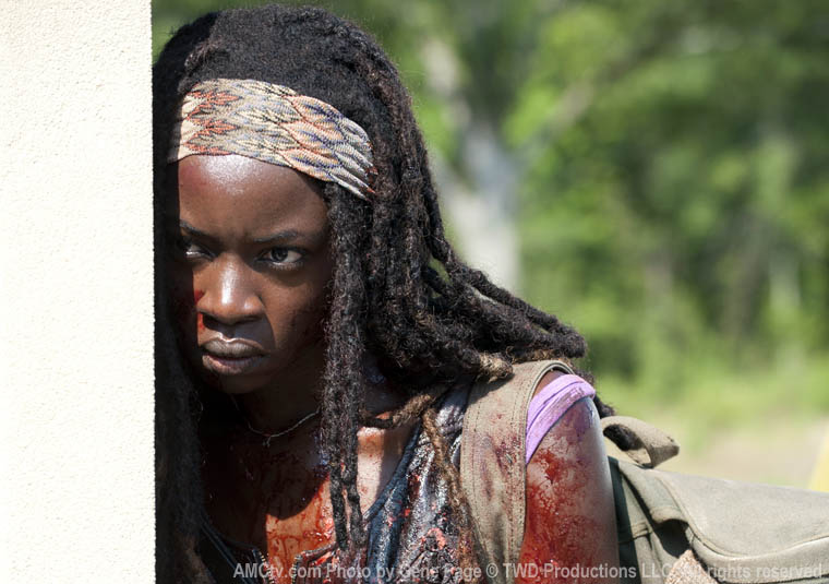 Michonne (Danai Gurira) in Episode 6 of The Walking Dead