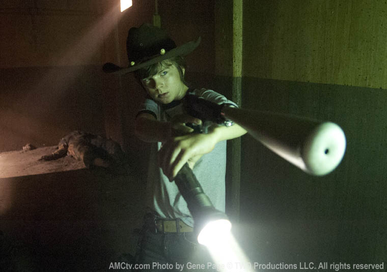 Carl Grimes (Chandler Riggs) in Episode 8 of The Walking Dead