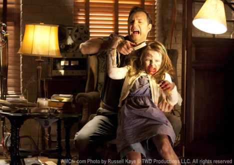 The Governor (David Morrissey) and Penny (Kylie Ann Syzmanski) in Episode 5 of The Walking Dead