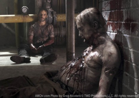 Rick Grimes (Andrew Lincoln) in Episode 5 of The Walking Dead