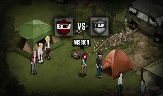 <em>The Walking Dead</em> Social Game &#8211; What&#8217;s the Difference Between a Camp Mission and a Story Mission? How About a TV Mission?