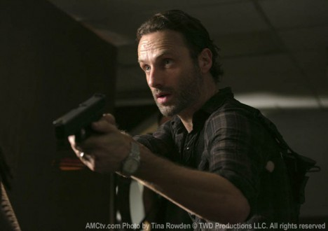 Rick Grimes (Andrew Lincoln) in Episode 8 of The Walking Dead
