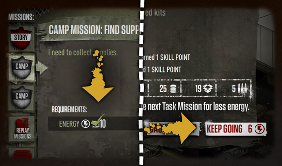 <em>The Walking Dead</em> Social Game &#8211; This Week&#8217;s Tip: Energy Saving Between Missions