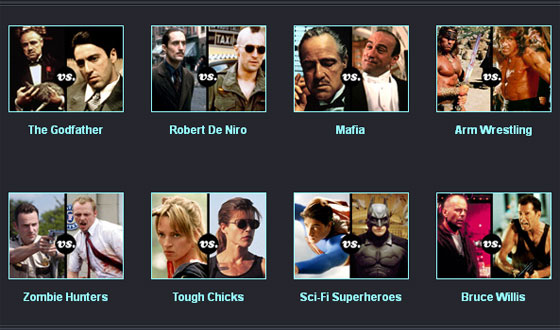 AMCtv.com's Online Tournaments Pit Movie Characters and Actors Against One Another