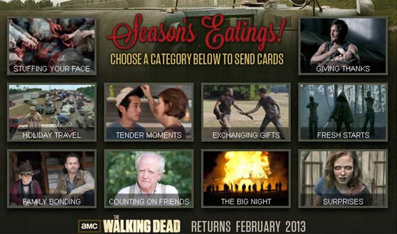 <em>The Walking Dead</em> Video E-Cards Arrive Just in Time for the Holidays