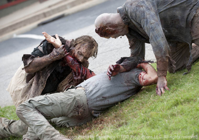 Walkers in Episode 9 of The Walking Dead