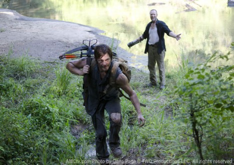 Daryl Dixon (Norman Reedus) and Merle Dixon (Michael Rooker) in Episode 10 of The Walking Dead