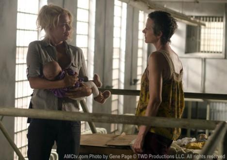 Andrea (Laurie Holden) and Carol Peletier (Melissa McBride) in Episode 11 of The Walking Dead