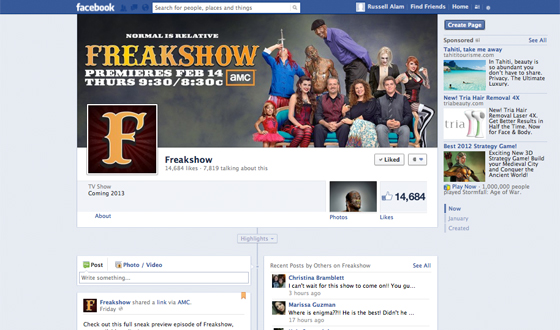 Love <em>Freakshow</em>? Like It on Facebook