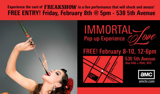 Immortal Love Pop-up Experience Launches This Weekend for <em>Freakshow</em> and <em>Immortalized</em>