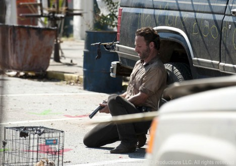 Rick Grimes (Andrew Lincoln) in Episode 12 of The Walking Dead