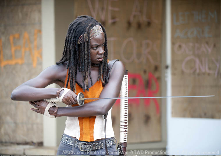 Michonne (Danai Gurira) in Episode 12 of The Walking Dead