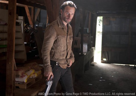 Rick Grimes (Andrew Lincoln) in Episode 13 of The Walking Dead