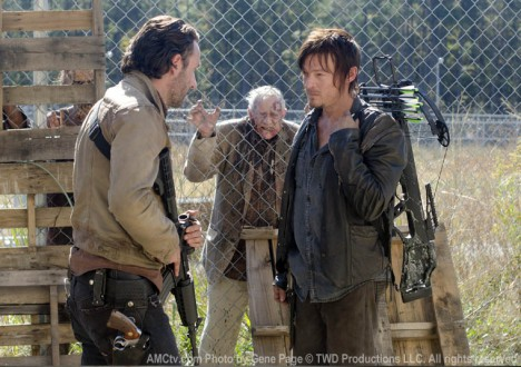 Rick Grimes (Andrew Lincoln) and Daryl Dixon (Norman Reedus) of The Walking Dead