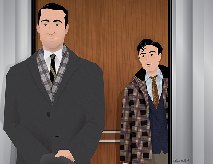 Dyna Moe's Mad Men Season 5 Illustrations 7 - Dyna Moe's Mad Men Season 5 Illustrations