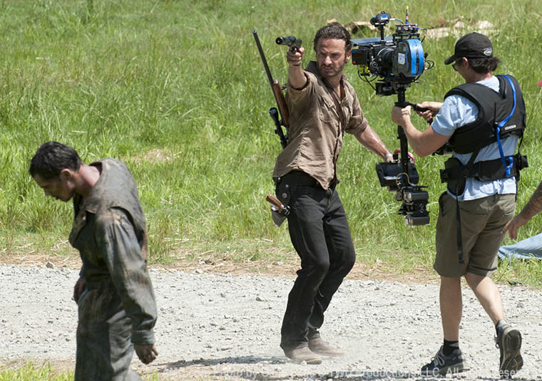 Andrew Lincoln (Rick Grimes) in Episode 1 of The Walking Dead
