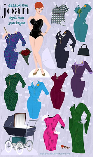 Dyna Moe's Mad Men Paper Dolls 1 - Dyna Moe's Mad Men Paper Dolls