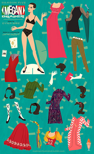 Dyna Moe's Mad Men Paper Dolls 2 - Dyna Moe's Mad Men Paper Dolls