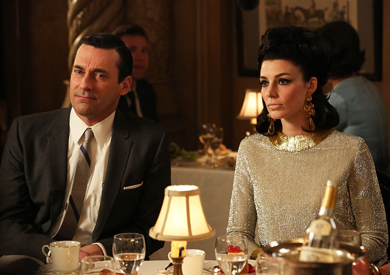 Don Draper (Jon Hamm) and Megan Draper (Jessica Paré) in Mad Men