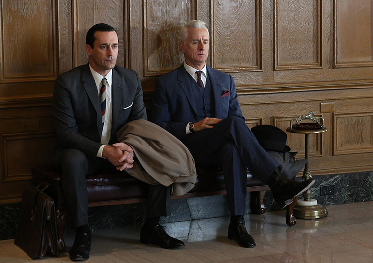Don Draper (Jon Hamm) and Roger Sterling (John Slattery) in Mad Men