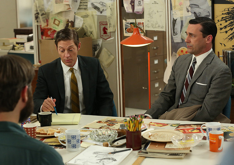Ted Chaough (Kevin Rahm) and Don Draper (Jon Hamm) in Mad Men