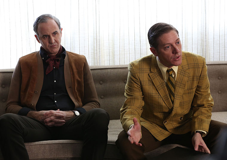 Frank Gleason (Craig Anton) and Ted Chaough (Kevin Rahm) of Mad Men