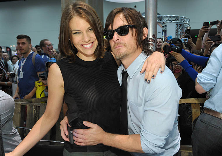 Lauren Cohan (Maggie Greene) and Norman Reedus (Daryl Dixon) of The Walking Dead