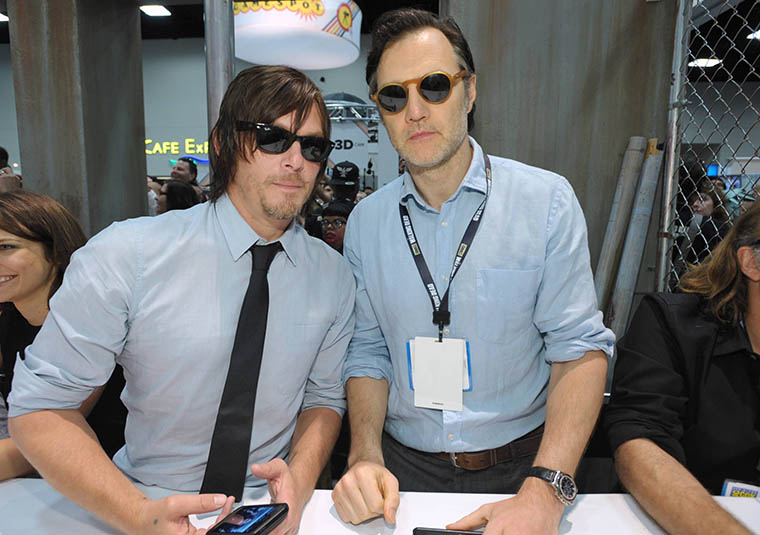Norman Reedus (Daryl Dixon) and David Morrissey (The Governor) of The Walking Dead