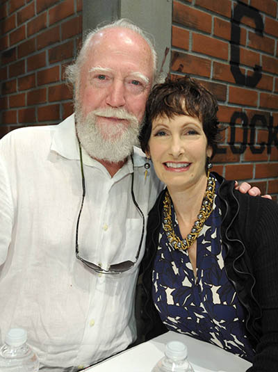 Scott Wilson (Hershel Greene) and Gale Anne Hurd (Executive Producer) of The Walking Dead