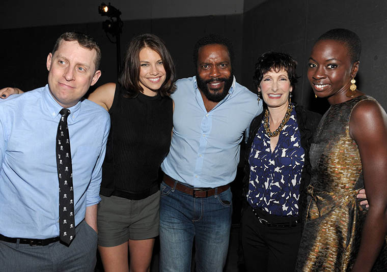 Scott Gimple (Executive Producer, Showrunner), Lauren Cohan (Maggie Greene), Chad L. Coleman (Tyreese), Gale Anne Hurd (Executive Producer) and Danai Gurira (Michonne) of The Walking Dead