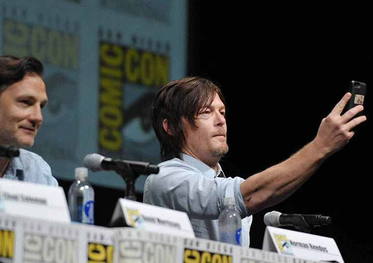 David Morrissey (The Governor) and Norman Reedus (Daryl Dixon) of The Walking Dead