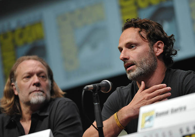 Greg Nicotero (Executive Producer, Special FX Makeup Designer) and Andrew Lincoln (Rick Grimes) of The Walking Dead
